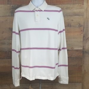Abercrombie & Fitch Polo Shirt Men's Size L Muscle